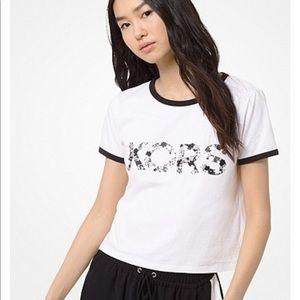Michael Kors Embellished Cotton-Jersey T-Shirt